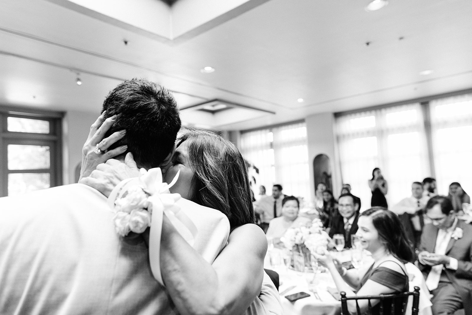 The mother-son dance during a wedding in Costa Mesa.