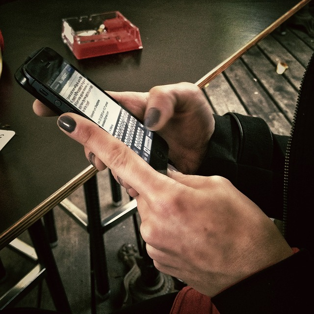 texting on smart phone