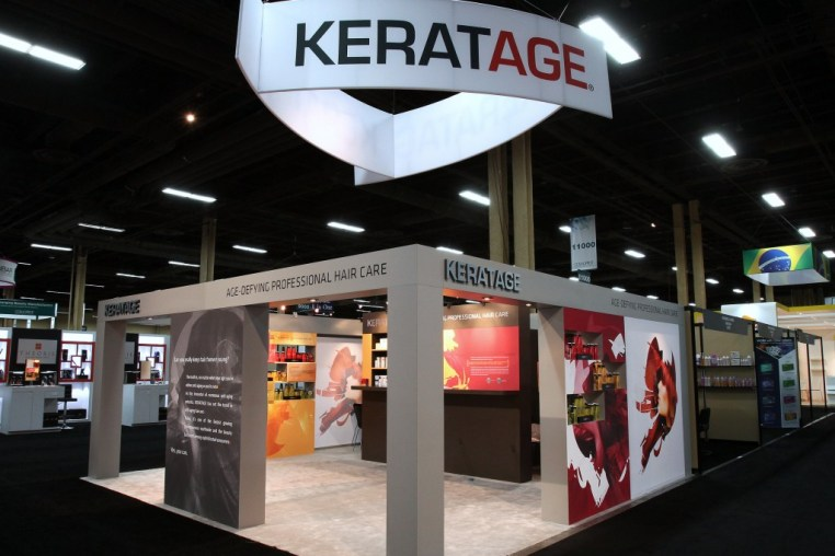 amazing trade show booth for keratage