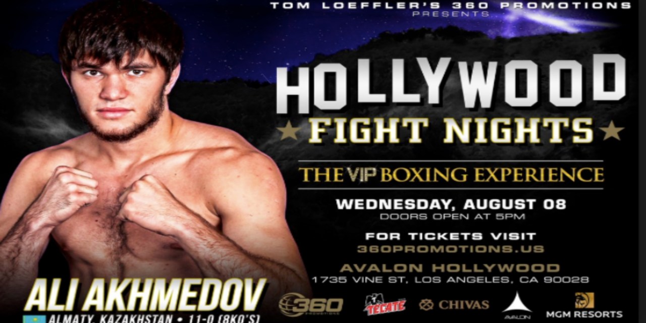 Ali Akhmedov returns to the ring on 360 Promotions' Hollywood Fight Nights