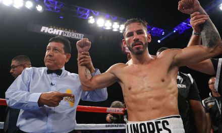 Linares Scores First Victory at Super Lightweight