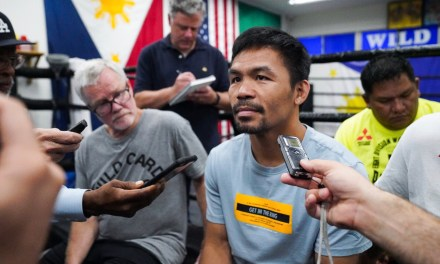 """""""I'M TAKING IT ONE FIGHT AT A TIME"""" -MANNY PACQUIAO ON POSSIBLY FACING OTHER CHAMPS AT 147"""