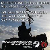 Idle No More and Lakotas Owe Aku: NO! Black Snake tarsands pipeline: 'We have painted our faces'