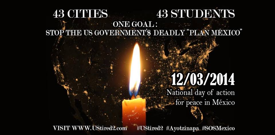 "#USTired2:  43 U.S. cities to hold vigils, protests demanding Obama, Congress end ""Plan Mexico"" drug war funding"