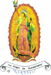"""By Nephtali. Radical transformation from traditional Passive love with no conditions to Affirmative love with conditions. From la Virgen de Guadalupe to La Virgen de Guadaliberty. """"I love you my children, but u must stand up for your dignity and your rights, and I will stand with you wherever you choose to affirm yourselves."""" Chicano Art in praxis. Protest women's march in San Antonio, Texas."""