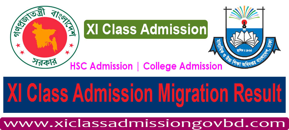 XI Class Admission Migration Result