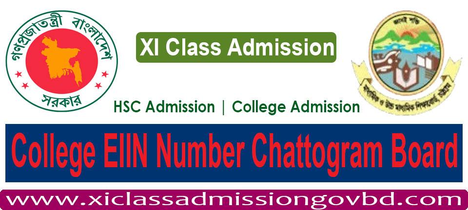 College EIIN Number Chattogram Board
