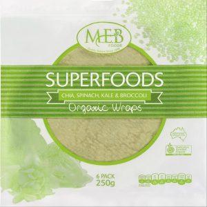 M.E.B Organic Wraps - Chia, Spinach, Kale & Broccoli 6s Image