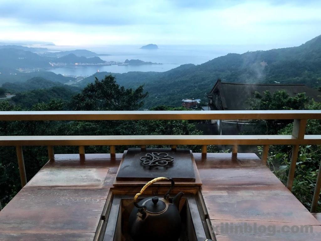 九份の水心月茶坊から見える絶景