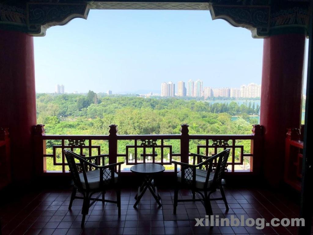 グランドホテル高雄のレイクビューのバルコニーからの眺め08_1
