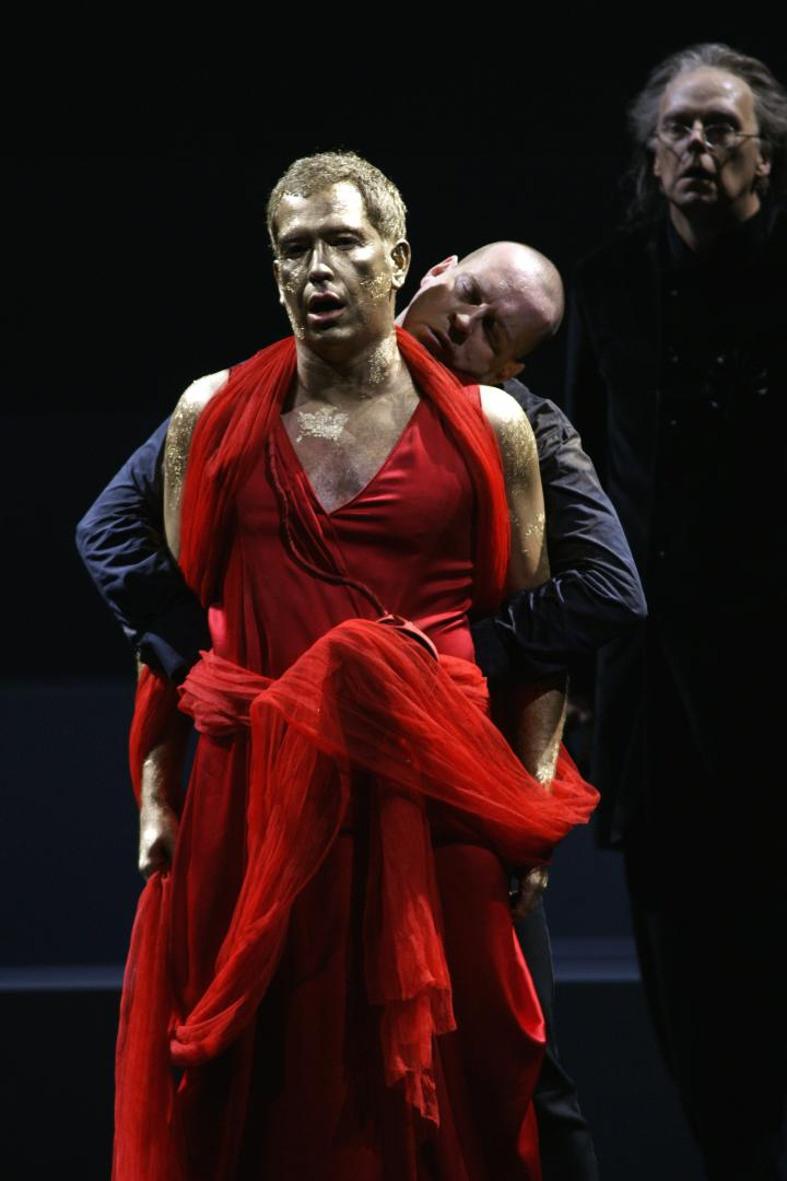 Will Hartmann (Hirte) i Scott Hendricks (Roger). Festival de Bregenz 2009