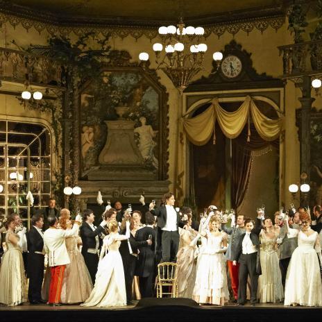 Die Fledermaus, Producció Otto Schenk, Foto Wiener Staatsoper / Michael Pöhn