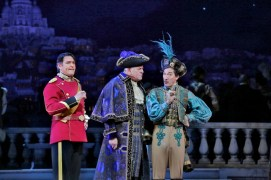 Nathan Gunn - Thomas Allen i Carson Elrod a The Merry Widow al MET Foto Metopera/ Ken Howard