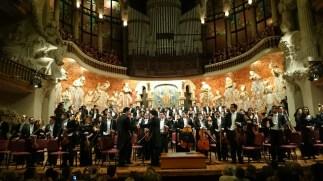 Dudamel i la Orquesta Sinfónica Simón Bolivar de Venezuela al Palau. Foto gentilesa de Paco E.