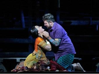Diana Damrau (Leila) i Matthew Polenzani (Nadir) Foto: Ken Howard/MetropolitanOpera