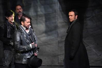 Celso Albelo (Tebaldo) i Simon Orfila (Lorenzo) a I Capuleti e i Montecchi. Fotografia Premsa Liceu A.Bofill