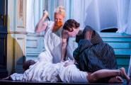 Diana Damrau (Lucia), Taylor Stayton (Arturo Bucklaw) i Rachael Lloyd (Alisa) a Lucia Di Lammermoor @ Royal Opera House.