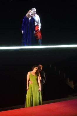Àngel Ódena (Rigoletto), María José Moreno (Gilda), Ana Ibarra (Maddalena) i Enrico Iori (Sparafucile) Rigoletto, producció de Monique Wagemakers Fotografia ®A Bofill