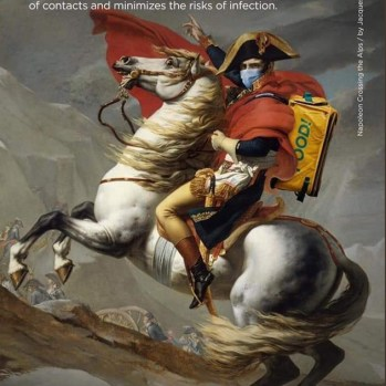 Napoleón cruzando los Alpes de Jacques Louis David,