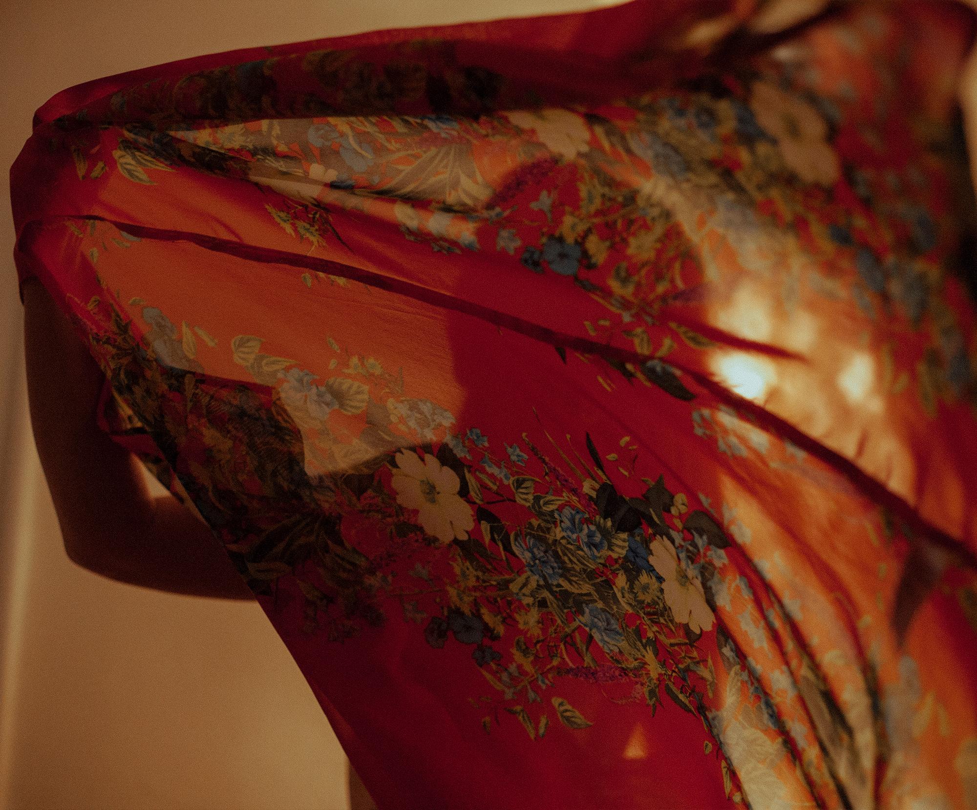 girl twirling in kimono