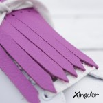 flecos zapatillas Purpura Vibrante detalle