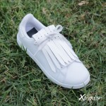 flecos zapatillas blanco cesped