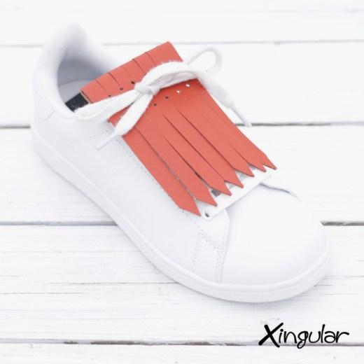 flecos zapatillas naranja teja