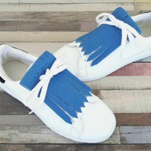 flecos zapatillas azul claro par