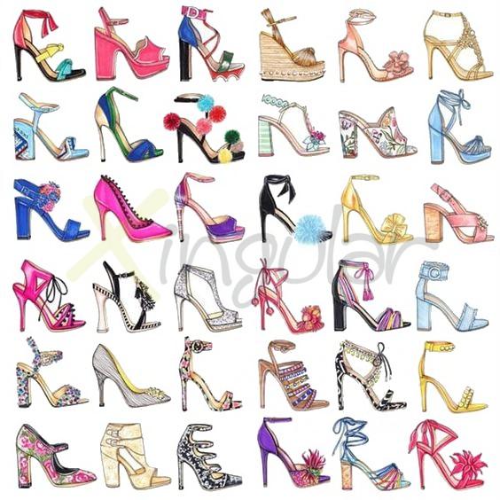 Adornos para zapatos de mujer - zapatos originales