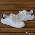 flecos zapatillas circulos pintados par