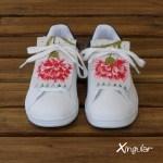 flecos zapatillas claveles rojos par juntos