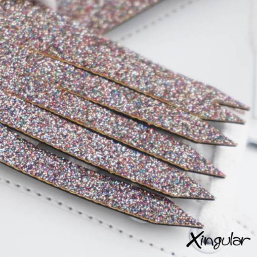 flecos zapatillas glitter detalle