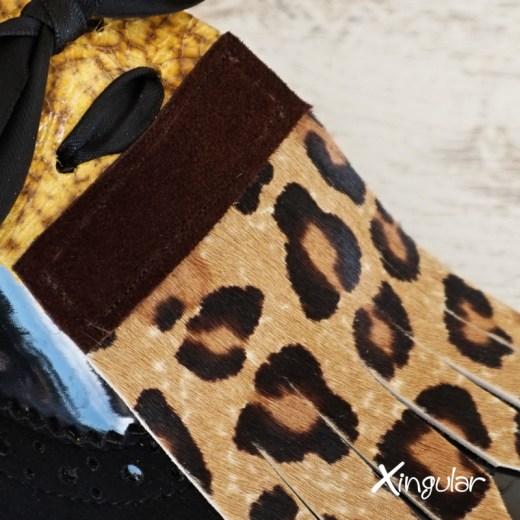 lengüetas zapatos leopardo detalle