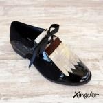 lengüetas zapatos tierra