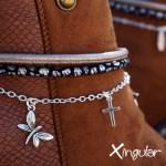 pulsera botas gaudi bronce detalle BM