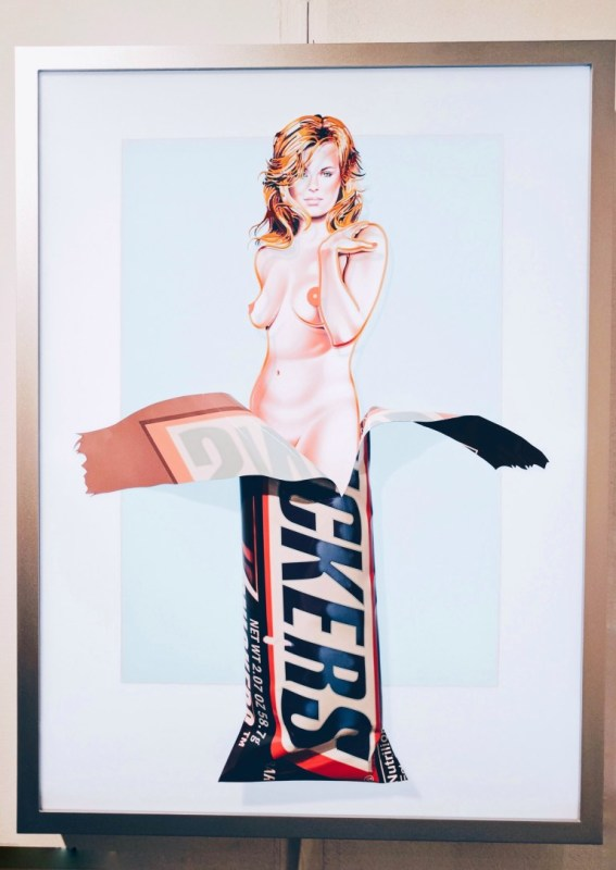 snickers bar painting