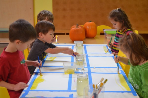 Preschool Group Activity Painting