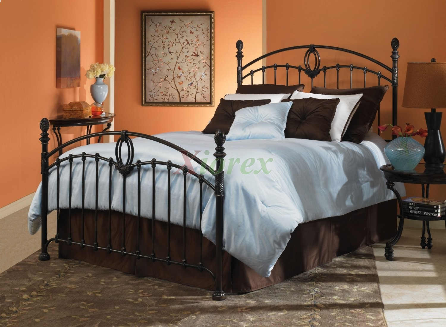 Transitional Bed In Tarnished Copper Finish