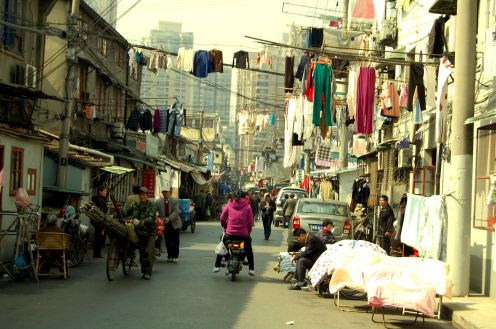 Shanghai - Calle de barrio popular