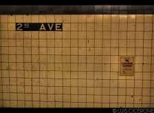 La estación de metro de la zona en la que me alojé.