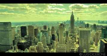 Esta es mi foto favorita de todo el viaje. Muestra las vistas desde el Rockefeller Center.
