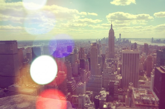 Vista de Manhattan y el Empire State desde el Top of the Rock