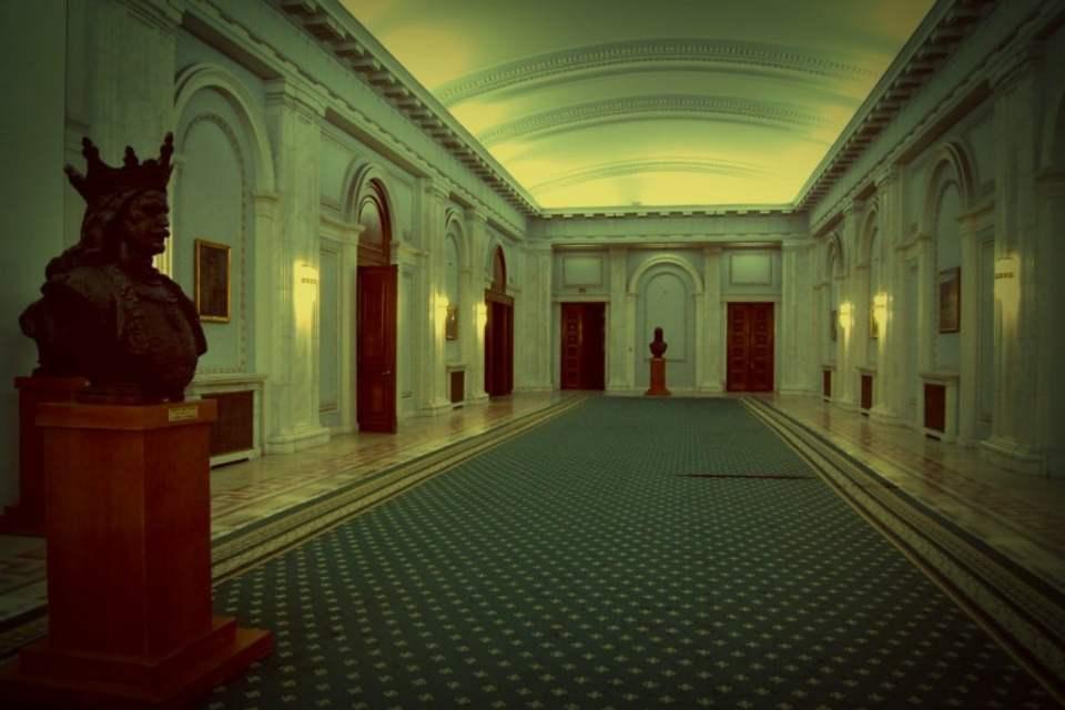 Salón de recepciones del Parlamento de Rumanía