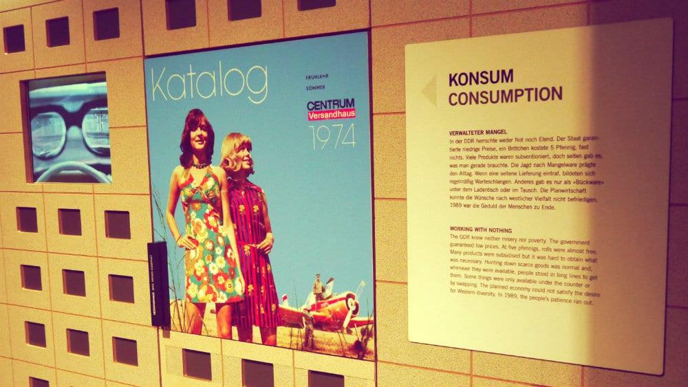 Exhibición DDR Museum - Consumo en la RDA