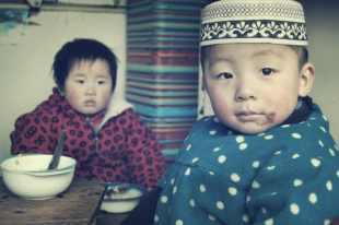 Niñoñs musulmanes en Xian