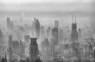 Shanghai en el smog