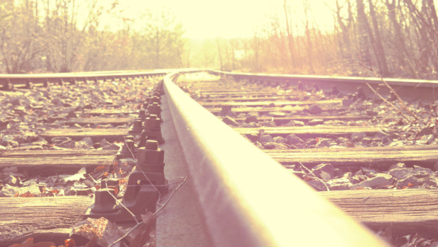 Vías de tren abandonadas
