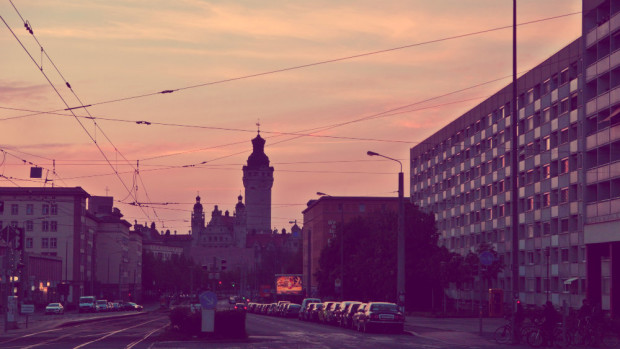 Atardecer en Leipzig