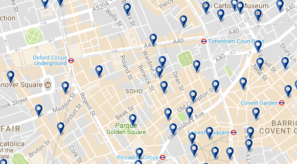 Londres - West End - Haz clic para ver todos los hoteles en esta zona