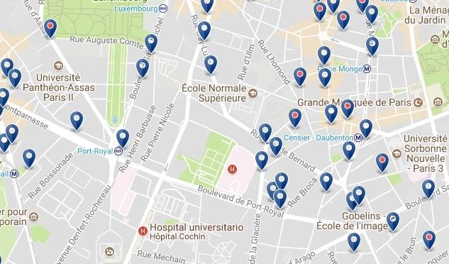 París - Barrio Latino - Haz clic para ver todos los hoteles en un mapa